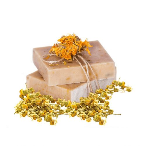 Kamilla-körömvirág szappan shea vajjal és zöld tea illattal