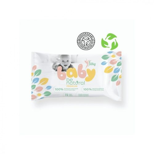 Silky baby be natural premium törlőkendő 72 lap