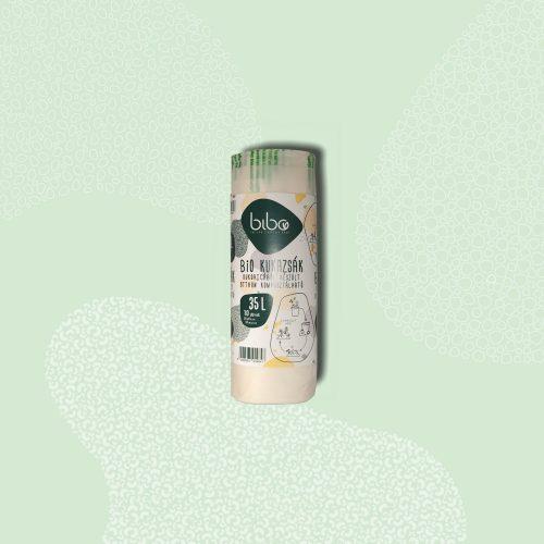 bibo bio komposztálható hulladékgyűjtő zsák, 35l
