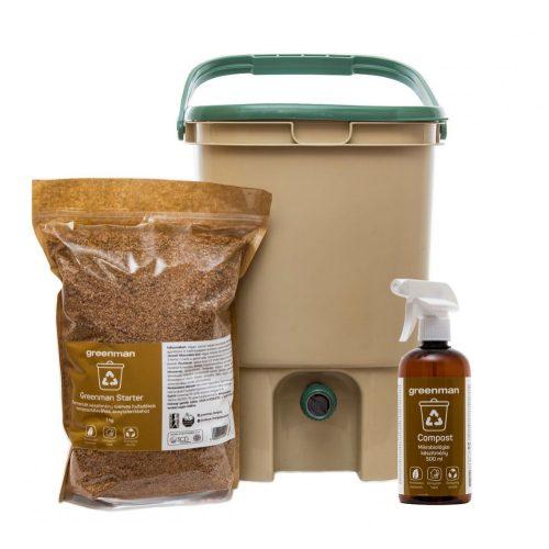 Komposztálás starter csomag ajándék Compost spray-vel