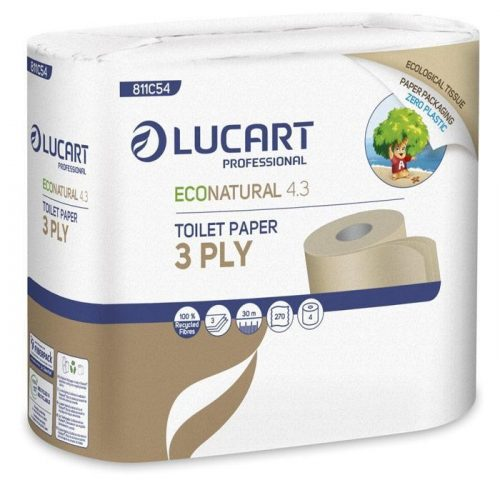 Lucart Eco Natural 3 rétegű wc papír