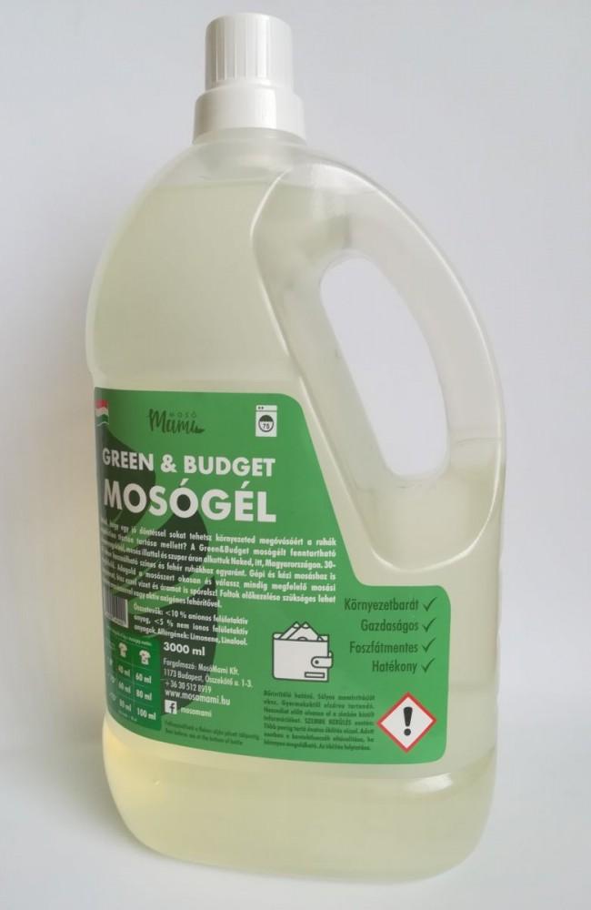 Mosómami green&Budget mosógél 3 l.